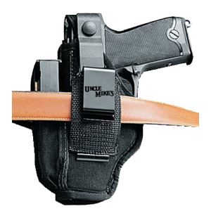 "Uncle Mike's Sidekick Ambidextrous-Hand Belt Holster for Small 5/6-Shot Revolvers in Black (2.25"") - 70360"