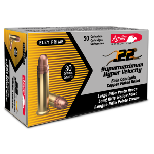 Aguila 1B222297 22 Long Rifle 30 GR Super Max Hollow Point 5000Cs