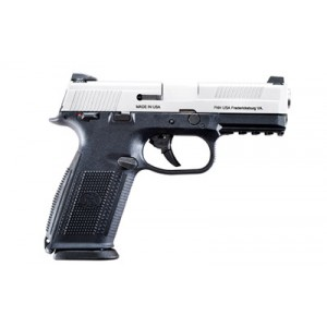 """FN Herstal FNS-40 Long Slide .40 S&W 14+1 5"""" Pistol in Stainless Steel (Ambidextrous Safety) - 66730"""