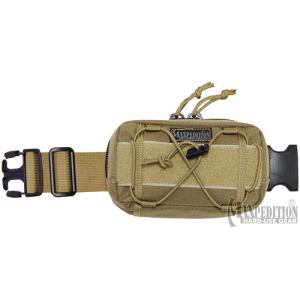 Maxpedition Janus Extension Pocket Grimeproof/Waterproof Waist Pack in Khaki 1000D Nylon - 8001K