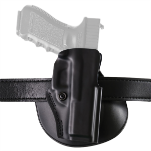 "Safariland Model 5198 Right-Hand Paddle Holster for Glock 17, 22, 19, 23, 26, 27 in Black (3.5"") - 5198183411"