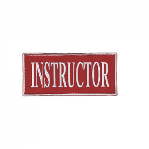 Instructor Patch Color: Red 2  x 4