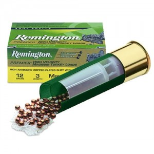 "Remington Premier Magnum Copper-Plated Buffered Turkey .12 Gauge (3"") 5 Shot Copper-Plated Lead (10-Rounds) - P12XHM5"