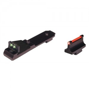 Truglo Fiber Optic Rifle Sight Set For the Ruger 10/22 - Front Red, Rear Green TG111W