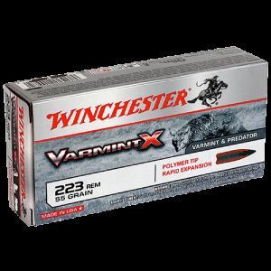 Winchester Super-X .223 Remington/5.56 NATO Varmint, 55 Grain (20 Rounds) - X223P
