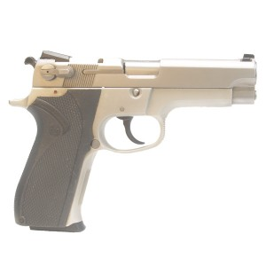 "Pre-Owned Smith & Wesson Model 5903 9mm Luger (Parabellum) Semi-Automatic Pistol witrh 4"" Barrel, 14+1 Capacity and Factory Rubber Grips"