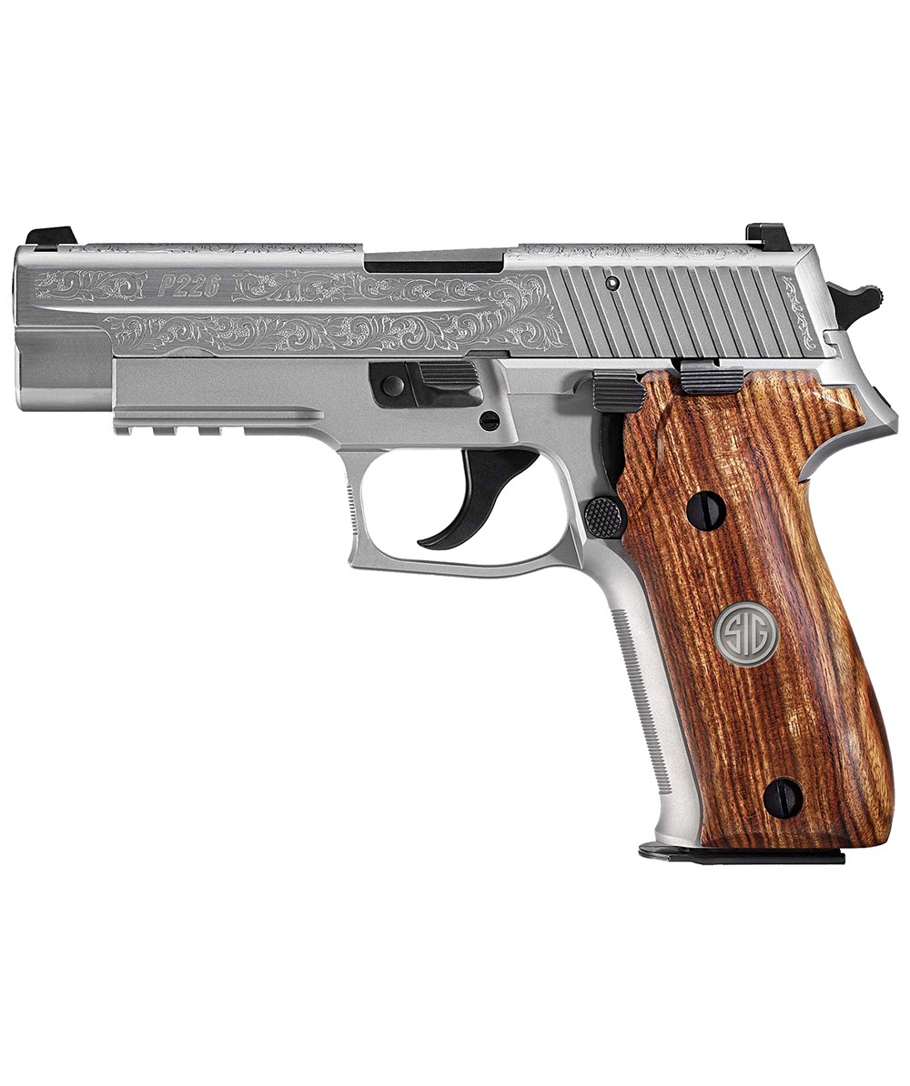 Sig Sauer P226 Full Size Stainless Engraved MA Compliant 9mm 15+1 4 4