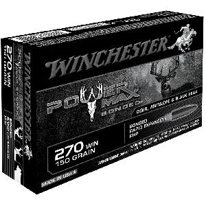 Winchester Super-X .270 Winchester Power Max Bonded, 150 Grain (20 Rounds) - X2704BP