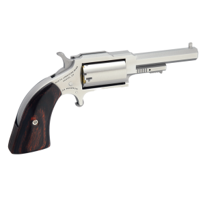 """North American Arms 1860 .22 Long Rifle/.22 Winchester Magnum 5-Shot 2.5"""" Revolver in Stainless (Sheriff) - 1860250C"""