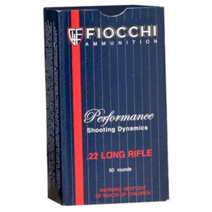 Fiocchi Ammunition .22 Long Rifle Lead Round Nose, 40 Grain (50 Rounds) - 22FLRN