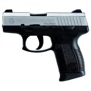 """Taurus Millenium Pro9mm 12+1 3.25"""" Pistol in Titanium Slide - 1111039PTI12"""