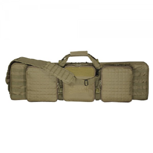 42  Deluxe Padded Weapon Case With 6 Black Locks Color: Coyote