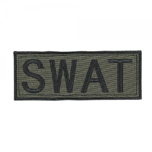 Law Enforcement Patches  Color: OD Green 2  x 4  Patch Logo: SWAT