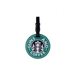 5ive Star Gear Guns and Coffee Stainproof Starbucks Luggage Tag in Green/Black - 6672000