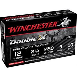 "Winchester Supreme Hi Velocity .12 Gauge (2.75"") 00 Buck Shot Lead (5-Rounds) - SB1200"