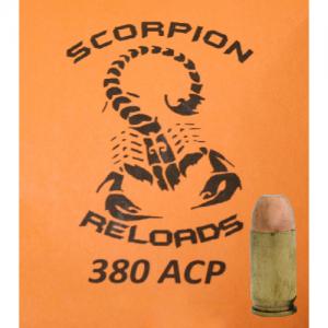 Remanufactured Scorpion .380 ACP, 100 Grain (50 Rounds) - SRA380