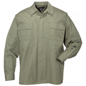 5.11 Tactical Taclite TDU Men's Long Sleeve Shirt in TDU Green - Large