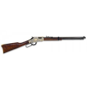 """Henry Repeating Arms Golden Boy Deluxe .22 Winchester Magnum 16-Round 20"""" Lever Action Rifle in Brass - H004MDD"""