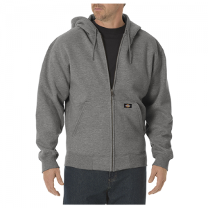 Dickies Midweigth Fleece Men's Full Zip Hoodie in Heather Grey - 3X-Large