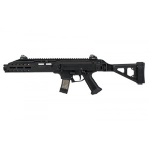 "CZ Scorpion EVO 3 S1 9mm 20+1 7.72"" Semi-Automatic Pistol in Black (with Flash Can and Folding Brace) - 91354"