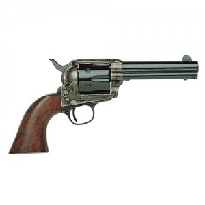 """Taylors & Co 1873 Cattleman .45 Colt 6-Shot 4.75"""" Revolver in Case Hardened Blue - 700A"""
