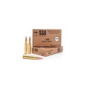 Silver State Armory Silver State Armory .308 Winchester HPBT, 168 Grain (20 Rounds) - 75040