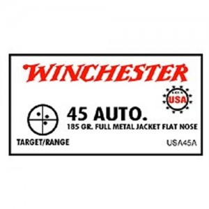 Winchester .45 ACP Full Metal Jacket, 185 Grain (50 Rounds) - USA45A