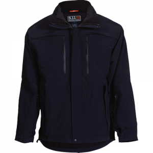 5.11 Tactical Bristol Parka Systems Men's Full Zip Coat in Dark Navy - Medium