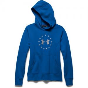 Under Armour Freedom Logo Women's Pullover Hoodie in Superior Blue - Medium