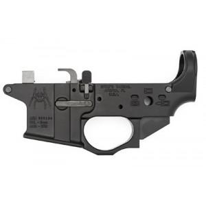 Spike's Tactical Stls910 9mm Colt Style Lower W/spider Logo, Semi-automatic, Black Finish, Bolt Locks Back After Last Round Stls910