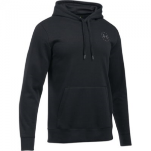Under Armour Freedom Flag Rival Men's Pullover Hoodie in Black - Small