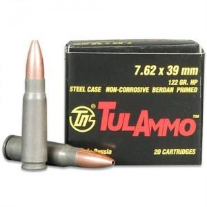 TulAmmo 7.62X39 Full Metal Jacket, 124 Grain (20 Rounds) - TULA762-20