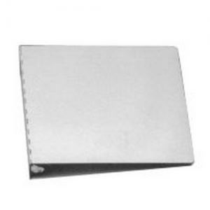 10 x11 3/4  Aluminum 1 1/4  3 Ring Binder Color: Silver
