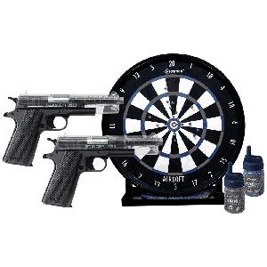 Crosman ASP311CDK Stinger Challenge Kit 2 Pistol w/Trgt 500 Rd+500 Blu BBs