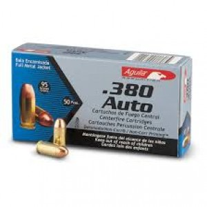 Aguila .380 ACP Full Metal Jacket, 95 Grain (50 Rounds) - 1E802110