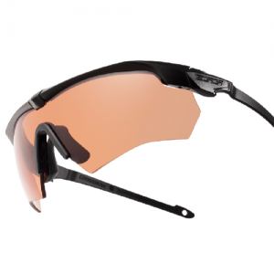 Crossbow Suppressor 2X (Clear and Hi-Def Copper) - Black frames. Two fully-assembled eyeshields: (1) Hi-Def Copper lens w/Suppressor frame & (1) Clear lens w/standard Crossbow frame. Large zippered hard case, microfiber cleaning pouch & elastic retention