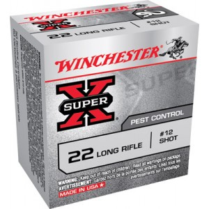 Winchester Super-X .22 Long Rifle #12 Shot, 40 Grain (50 Rounds) - X22LRS