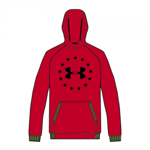 Under Armour Freedom Men's Pullover Hoodie in Red - Small
