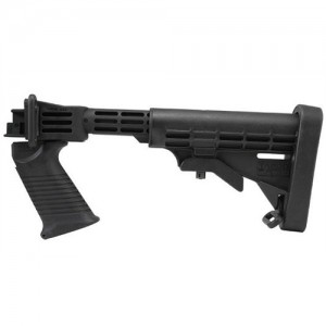 Tapco 6 Position Collapsible Black Stock System for Saiga Rifles STK07160