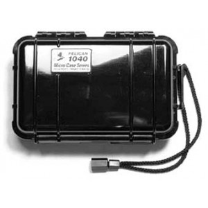 """Pelican 1040 Protect Case, For Ipod, 6.5""""x3.9""""x1.7"""", Black 1040-025-110"""