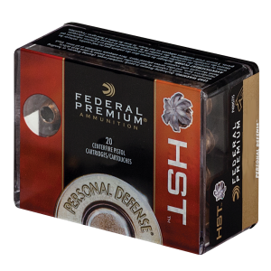 Federal Cartridge Premium Personal Defense 9mm HST Jacketed Hollow Point, 124 Grain (50 Rounds) - P9HST1