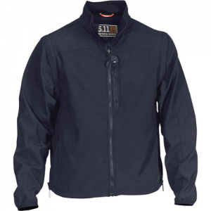 5.11 Tactical Valiant Softshell Men's Full Zip Jacket in Dark Navy - 2X-Large