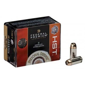 Federal Cartridge Premium Personal Defense .40 S&W HST, 180 Grain (20 Rounds) - P40HST1S