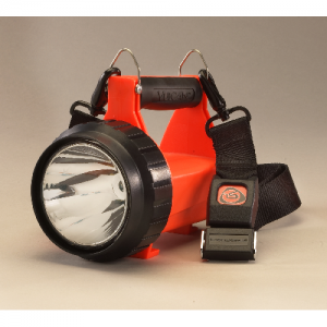 Fire Vulcan LED Org Standard  C4 LED Technology, impervious to shock with a 50,000 hour lifetime Two ultra- bright blue LEDs Strobe and Steady Modes up to 80,000 candela (peak Beam Intensity) Run times are up to 3 hrs with steady high LED & taillights; up