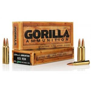 Gorilla Ammunition Company LLC Gorilla Ammunition .223 Remington Boat tail Hollow Point, 69 Grain (20 Rounds) - GA22369SMK