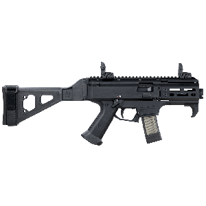 "CZ Scorpion Micro S2 9mm 20+1 4"" Semi-Automatic Pistol in Black (with Folding Pistol Brace) - 91345"