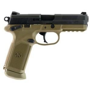 """FN Herstal FNX-45 .45 ACP 15+1 4.5"""" Pistol in Flat Dark Earth (Threaded Barrel) - 66995"""