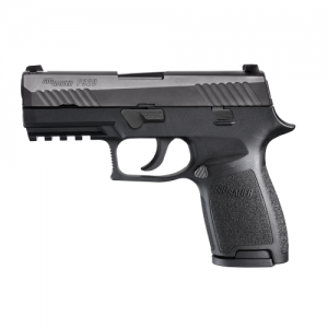 "Sig Sauer P320 Carry 9mm 17+1 3.9"" Pistol in Black Nitron (SIGLITE Night Sights) - 320CA9BSS"