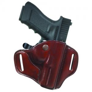 Carrylok Auto Retention Leather Holster Gun FIt: 12A / S&W / M&P 9MM/.40 Hand: Right Hand Color: Black / Plain - 23026