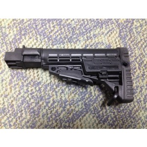 Command Arms AK-47 Collapsible Stock for Stamped Receiver with Black Finish AKTSPCBS